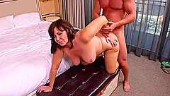 Ambrosial experienced woman having her anal filled
