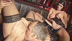 Blonde In Stockings Gets Pounded Hard