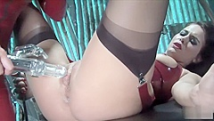 Lesbian latex bimbos love sexual insertions