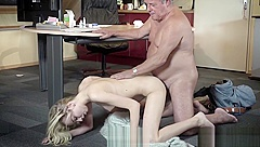 Young Old porn Martha gives grandpa a sloppy blowjob