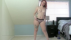 wide hips hairy pussy modelling panties