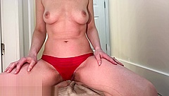 Gagging myself with my pee soaked panties and cumming twice - Ash Le