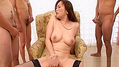 Wet Japanese cowgirl riding