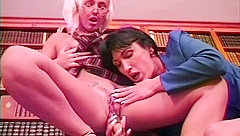 Lezzie Librarians Go At It With Strap-on