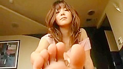 Japanese Babe Showing Off Soles