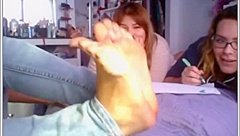 Girl Shows SEXY FEET chatroulette