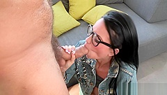 Intense and raw cowgirl riding
