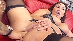 Ava Devine has ass torn up by huge cock