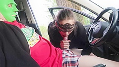 Blowjob and Handjob on a road from hot teen - MaryVincXXX