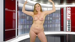 Naked news Samantha auditions