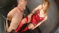japanese footjob and cock crush