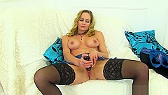 UK milf Red will make your cock hard with her hot body