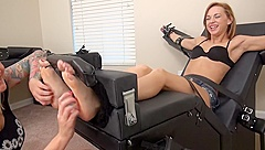 Morgan Del Ray Toe Tied Tickle Torture - Tickle Abuse - Cute Feet Tickled