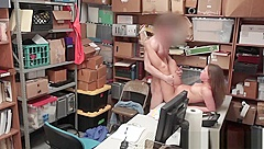 Thief Brooke Bliss Gets Roughly Pounded In Office