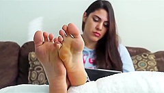 pretty teen ankle socks and perfect feet. what do you want with her feet?