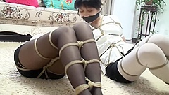 Two police women bondage and gagged - xy410