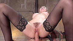 Babe In Bondage Hairy Pussy Tormented