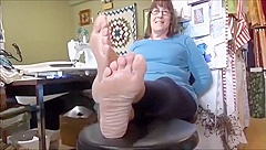 Mature Wrinkled Soles Feet - 51 Years Old