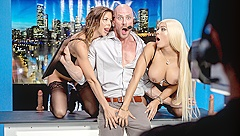 Alexis Fawx & Luna Star & Johnny Sins in News Ancwhores - BRAZZERS