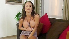 gorgeous busty milf made her new young roommate cum twice