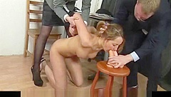 Naked job interview for a secretary