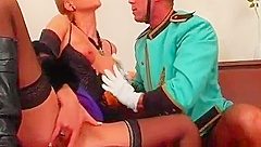 Horny fetish action with chap getting dominated by sexy babe