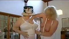 British grannies kissing and fingering