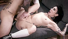 Hot Sexy Milf Covered With Tattoos Gets It Into Her Ass