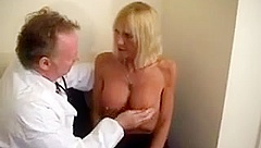 Blonde Gilf Gets Checked By A Horny Dr