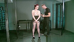 BDSM XXX Tight young sub slags get shown the ropes by horny Master