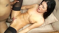 Small Breasted India Summer Works A Huge Black Dick