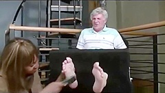 old men tickled feet