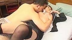A Real Layover For Japanese Stewardess And Asian Partner In Hotel