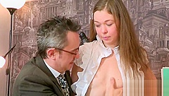 Sultry college girl is teased and penetrated by her older mentor
