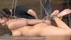 Busty bondage bdsm sub punished roughly