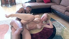 Classy experienced woman is making dude cum