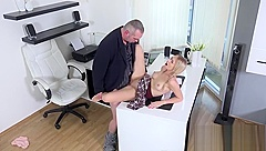 Nice schoolgirl gets seduced and screwed by aged schoolteacher