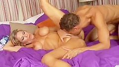 Young Stud Bangs Sexy Blonde Milf