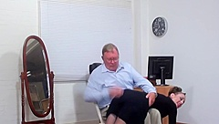 Wife spanked otk on her barebottom by her husband