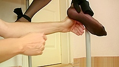 Bound Seamed Nylons Tickling